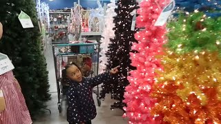 Christmas Decor Shopping! Our First Tree!   MOM VLOG