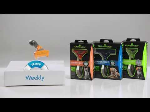 Produktvideo av FURminator deShedding Kattebørste Strigle Langhåret