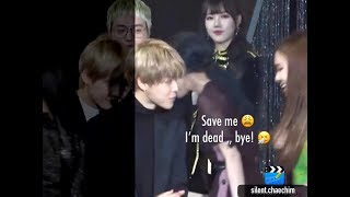 BTS Jimin & BLACKPINK Rosé at Golden Disk Awards 2018