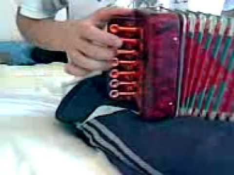 tocando chamame con acordeon de juguete