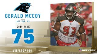 #75: Gerald McCoy (DT, Panthers) | Top 100 Players of 2019 | NFL