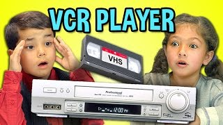 KIDS REACT TO VCR/VHS