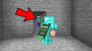Fake Herobrine trolling a minecraft noob