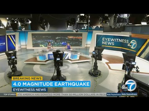 Flurry of earthquakes, including 4.0 magnitude temblor,  rattles Southern California   ABC7