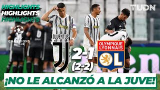 Highlights | Juventus 2-1 Lyon | Champions League 2020 - Octavos final | TUDN