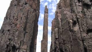 Escalade et highlining en tasmanie