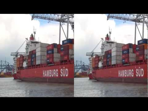 Le port de Rotterdam en 3D (yt3d)