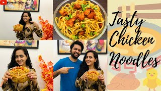 Anchor Lasya with her husband- Chicken Noodles- Latest vid..