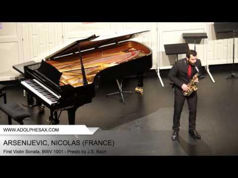 Dinant 2014 - ARSENIJEVIC Nicolas (First Violin Sonata, BWV 1001 - Presto by J.S. Bach)