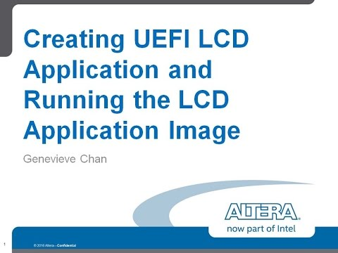 Creating UEFI LCD Application and Running the LCD Application Part 1