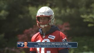 Tom Brady in attendance at Day 1 of Patriots mini camp, begins his 20th NFL season