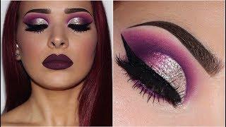 Purple Smokey Eye w/ Silver Glitter | Makeup Tutorial