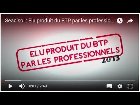 Seacisol : Elu produit du BTP par les professionnels