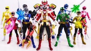 POWER RANGERS SAMURAI In Danger~! MIGHTY MORPHIN Defeat Villains Army SuperHero Toy Battle