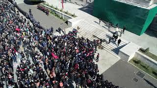 Protestuesit sulmojnë sërish kryeministrinë, pamje me dron - Top Channel Albania - News - Lajme