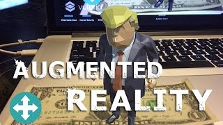 Lets Make an Augmented Reality App in 6 MINUTES!!!! DONALD TRUMP EDITION