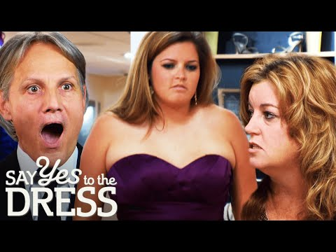 Mother Laughs At Bridesmaid Wearing A Dress That's Too Small | Say Yes To The Dress Bridesmaids