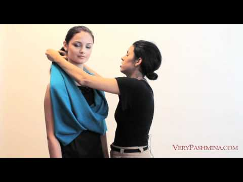 How To Wear A Shawl  10 Stylist Suggestions  YouTube How To Wear A Pashmina Shawl With A Dress