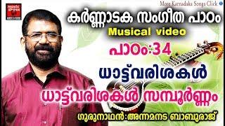 Karnataka Sangeetha Paadam 34 # Karnataka Sangeetham Malayalam 2018 # C4lassical Music For Studying