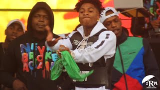 NBA Young Boy : JMBLYA 2019 Youngboy jumps in the crowd Backstage in Dallas Texas with Kevin Gates