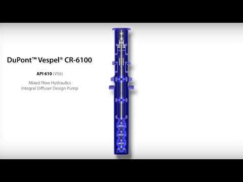 DuPont™ Vespel® CR-6100 Wear Rings in API610 (VS6) Mixed Flow Hydraulics and Integral...