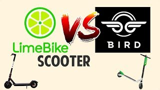 RIDING LIME AND BIRD SCOOTERS
