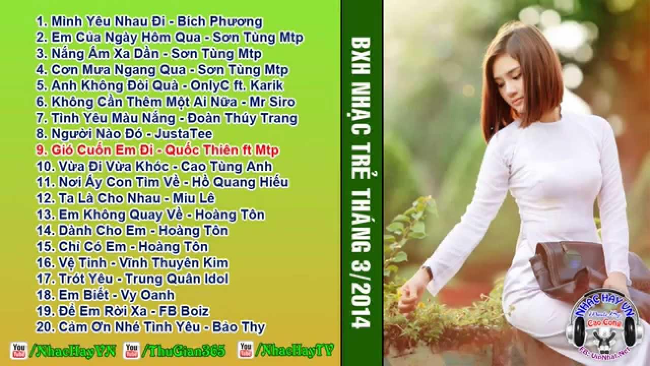 Bang Xep Hang: Bảng Xếp Hạng Nhạc Việt Tháng 3-2014