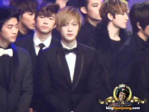 111230 KIM HYUN JOONG fancam - KBS AWARDS (Opening)