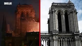 La catedral de Notre Dame, antes y después del fuego   YouTube 360p