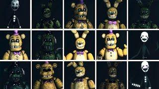 FNaF SFM: Golden Ones - Characters Appearance Timeline (Series Backstage Animation)