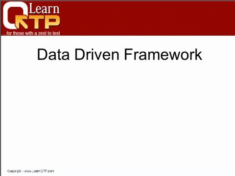 Datadriven Framework in QTP