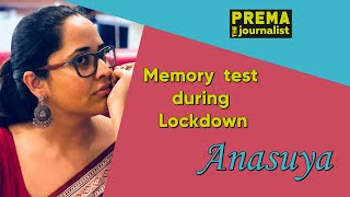 Memory test during lockdown with Anasuya Bharadwaj with Pr..