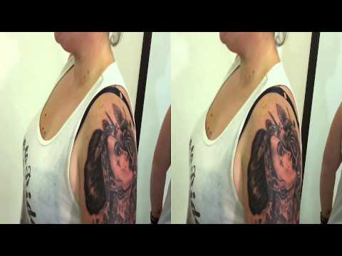 my Tattoo day in 3d by fluntboy (Toshiba Camileo Z100)