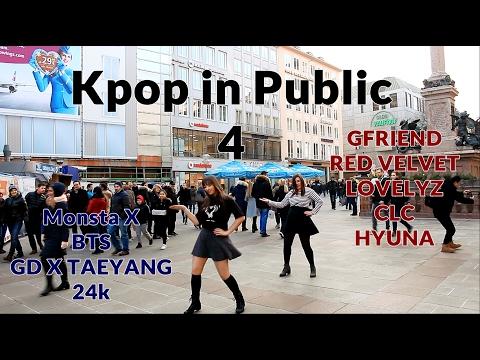 Dancing KPOP in public Challenge #4  (BTS, Gfriend, MonstaX, RedVelvet, 24k, CLC, GD, Lovelyz)