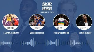 Lakers/Rockets, Marcus Morris, Zion Williamson, Kevin Durant (2.7.20) | UNDISPUTED Audio Podcast