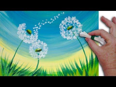 Contoh Lukisan Bunga Dan Pohon High Resolution Media Cat Air