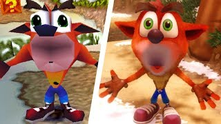 Crash Bandicoot - All Death Animations Comparison (N. Sane Trilogy vs Original)