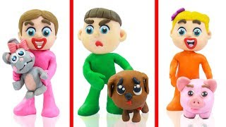 SUPERHERO BABY DOG PUPPY PET CARE 💖 Play Doh Cartoons Animation