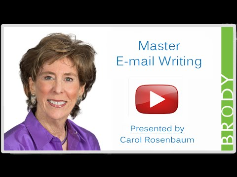 Master E-mail Writing