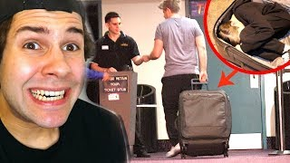 SNEAKING INTO MOVIES USING SUITCASE!! (BLOOPERS)