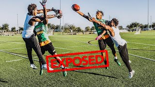 I GOT EXPOSED BY A 14 YEAR OLD.. (DB vs WR 1on1s AGAINST A HS FRESHMAN)