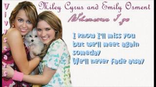 Miley Cyrus & Emily Osment -Wherever I go Lyrics On Screen [HD]