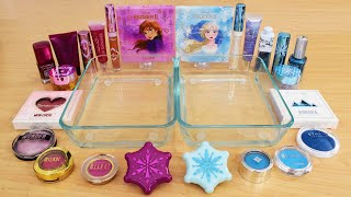 Anna vs Elsa  - Mixing Makeup Eyeshadow Into Slime ASMR 254 Satisfying Slime Video