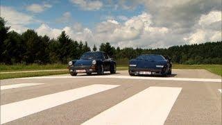 Porsche 911 Turbo vs. Lamborghini Countach - GRIP - Folge 245 - RTL2