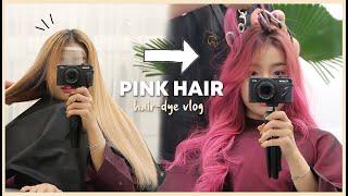 I FINALLY DYED MY HAIR PINK 🇰🇷 IN HONGDAE  | Erna Limdaugh