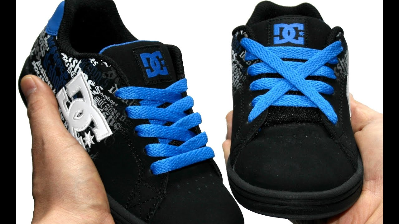 Tennis Shoe With Curly Shoelaces