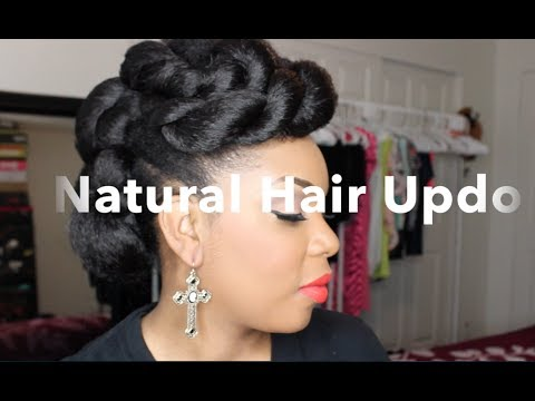 Twisted Goddess Updo On Natural Hair Kyssmyhair