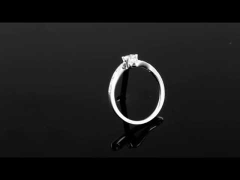 Browns Family Jewellers Twist White Gold Diamond Solitaire Ring