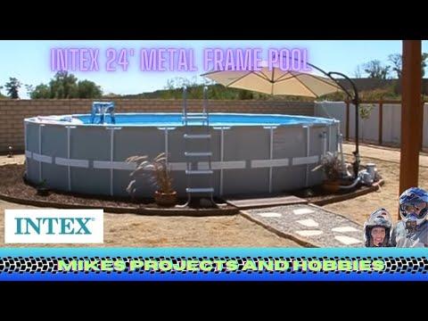Intex 24 Metal Frame Pool Youtube