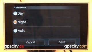 Garmin Nuvi 3597LMTHD: Display Settings With GPS City